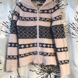 Zara super warm hooded cardigan/knit jacket szM